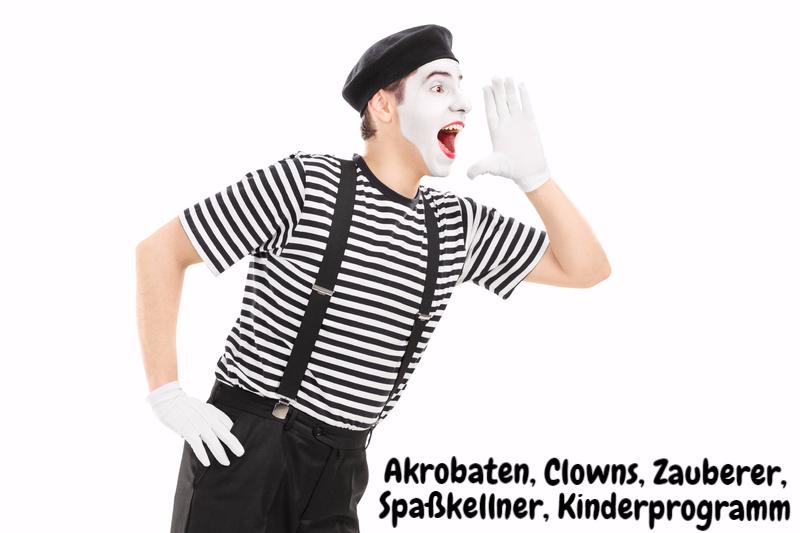 Clown, Kellner, Comedian, Comedy, Zauberer, Luftballons, Kinderprogramm, Einradfahrer, Akrobatik, Fotobox Hochzeit, Spaßkellner, Waking Act, Stelzenmann, Event, Magier, Hochzeit, Geburtstag
